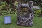 Rustic Brick Well Solar Water Feature With Battery Back-up
