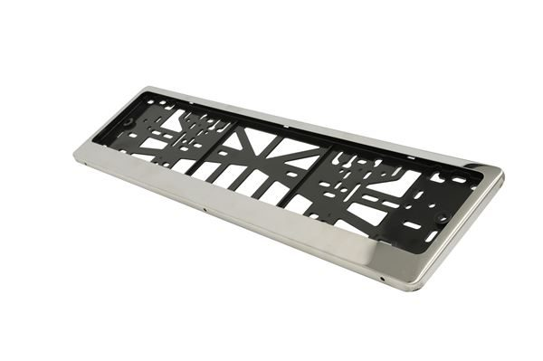 Stainless Steel Frame Number Plate Holder With Backing Plate (Metal) (Box Qty: 40)