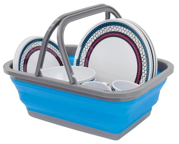 Collapsible Washing bowl with Handle (Outer Ctn Qty: 12)