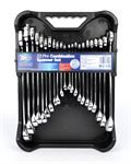 An image of 22pc mirror polished combination spanner set