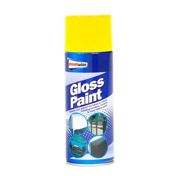 PDQ of 6 Yellow Gloss Paint (Outer Ctn Qty: 1 PDQ of 6)