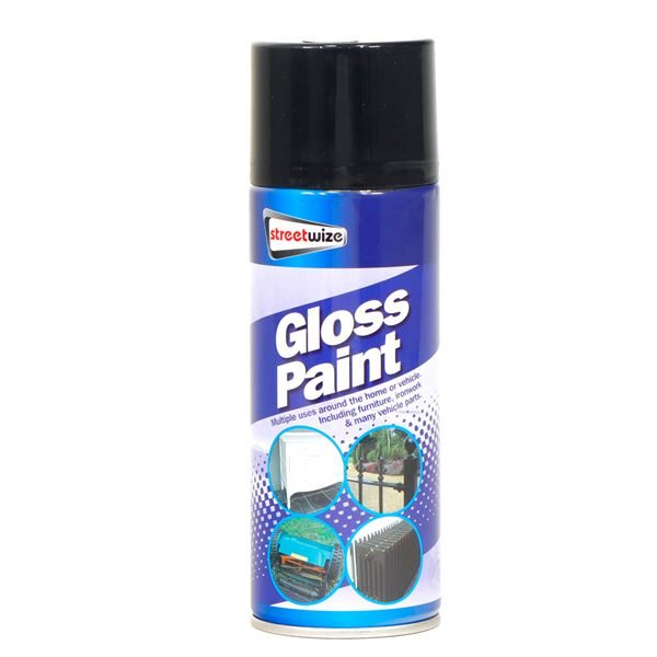 PQD of 6 Gloss Black Paint 400ML (Box Qty: 6)
