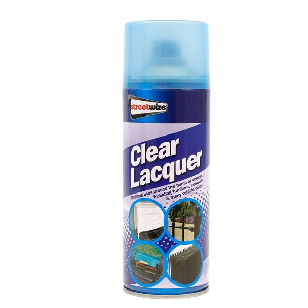 PDQ of 6 Clear Lacquer 400ML (Outer Ctn Qty: 1 PDQ of 6)