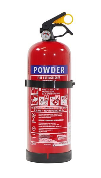 2kg Fire Extinguisher Dry Powder with Gauge - ABC Classification (Box Qty: 1)