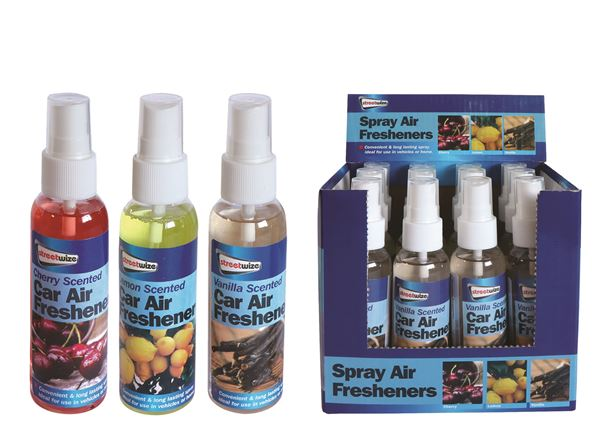 PDQ of 12 60ml Spray Assorted Air Freshener (Outer Ctn Qty: 48 (4 x PDQ of 12))
