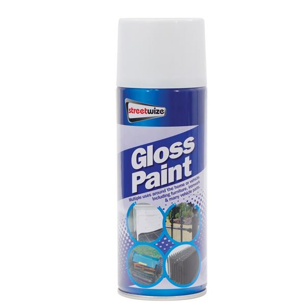 PDQ of 6 Gloss White Paint 400ML (Outer Ctn Qty: 1 PDQ of 6)