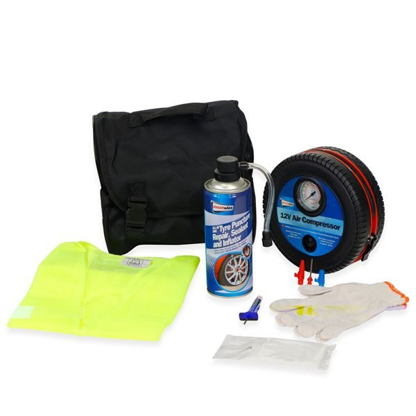 Tyre Sealer Kit with Compressor (Box Qty: 6)