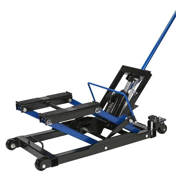 An image of the Streetwize 680kg (1500lbs) Motorcycle Hydraulic Jack