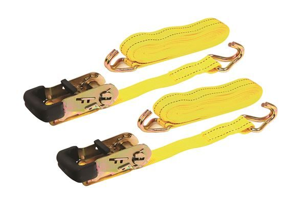 2 x 32mm/5m Ratchet Tie Downs with Rubber Handles (Box Qty: 10)