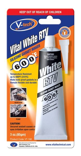 An image of Vital RTV White Silicone Gasket Maker