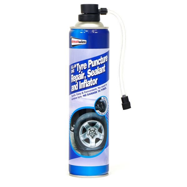 PDQ of 12 650ml Tyre sealer/inflator for 4x4+ (Outer Ctn Qty: 1 PDQ of 12)