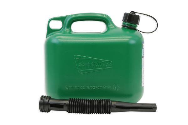 5L Fuel Can for Unleaded Petrol - Green (Sold in Multiples of 3)