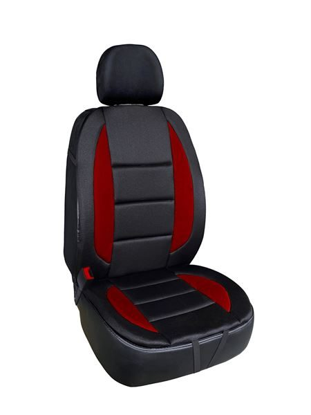Maryland Padded Front Seat Cushion - Black and Red