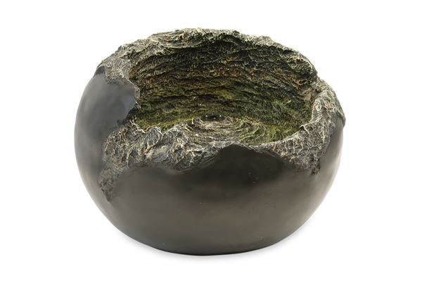 Rock Bowl Solar Water Feature With Back Up Battery (Outer Carton Cty: 1)